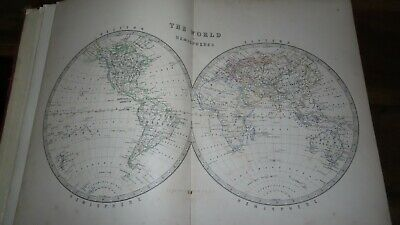 1868 Handy Royal Atlas Of Modern Geography By Johnston 32 Colour Maps Asia India