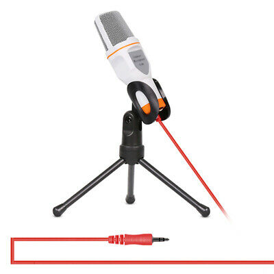 Pro 3.5mm Audio Podcast Condenser Microphone Desktop Mic W/ Stand For Skype MSN