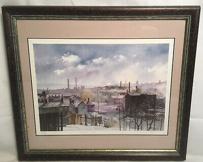 Vintage Traynor Industrial Winter Limited Edition Print Mounted And Frame