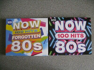 Now! Forgotten 80'S 100 Hits & Now! 80'S 100 Hits As New Condition + Mp3 Dvd