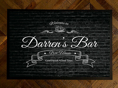 Personalised Welcome boat Bar any name Door mat 60 x 40 cm room mat bar mat