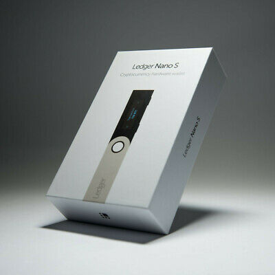 * Ledger Nano S Cryptocurrency Hardware Wallet BRAND NEW Factory Sealed