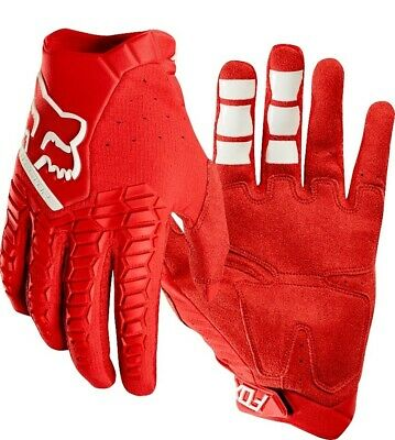 Fox Pawtector Motocross Offroad MX Enduro Race Gloves Red Adults