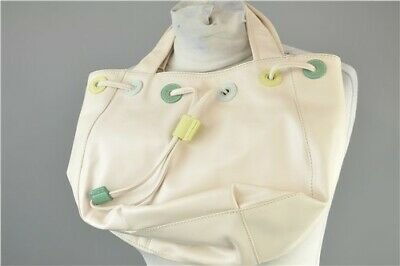 Radley NWT 58670 Medium Ivory Leather Drawstring Womens Handbag With Dust Bag