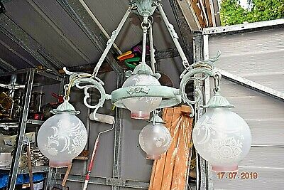 ANTIQUE FRENCH LARGE  CHATEAU CHANDELIER  c1940 31 INS HIGH 23 INS WIDE