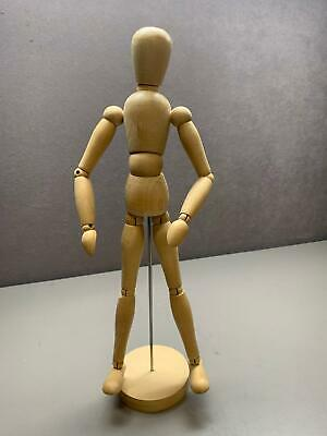 "Articulated Artist Form Mannequin Art Model for Figure Drawing 13.25"" Wood"