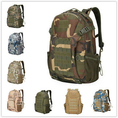 Unisex Military Tactical Backpack Hiking Climbing Camouflage Bag 30L Y003