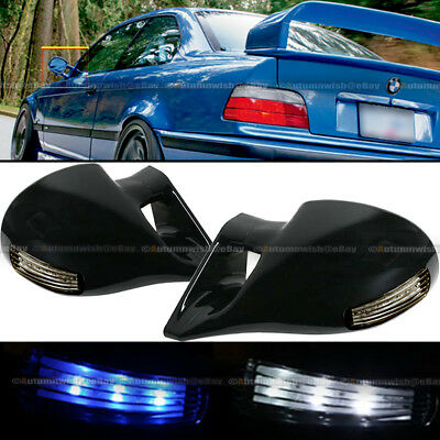 For 96-03 5 Series E39 F1 Style Manual Adjustable Carbon Painted Side Mirror