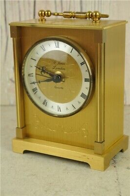 Vintage St James Of London Brass Carriage Clock In Good Untested Condition
