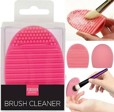 Silicone Makeup Brush Cleaner Cleaning Hand Tool Cosmetic Scrubber Board Egg Pad