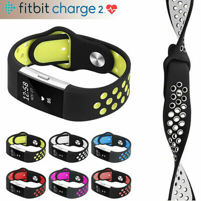 Fitbit Charge 2, Soft Silicone Breathable Fashion Sport Strap for Fitbit Charge