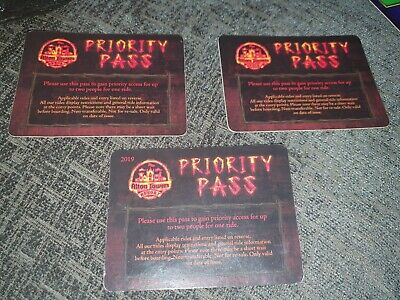 Alton Towers Rare Fast Track Passes including Wickerman and any other 1.2 ride.