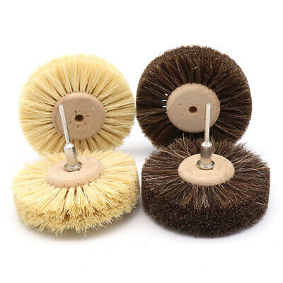 80mm Sisal/Horse Hair Bristle Wire Brush Wheel 1/8'' Shank for Dremel Rotary