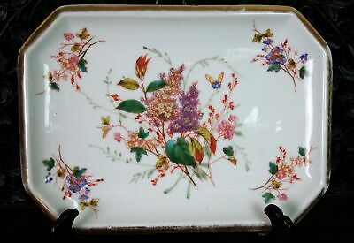 Antique Chinese Porcelain Republic Rectangular Serving Plate w/Floral Spray