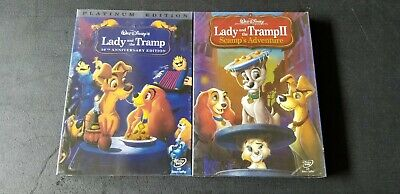 Lady and the Tramp 1 and 2 Movie Disney Bundle Brand New Free Shipping!