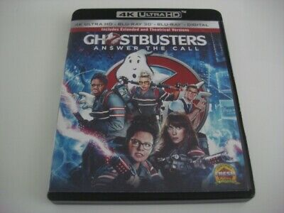 "Blu Ray 4K (Zone Free) + 2D (Zone A) ""Ghostbusters 3"" Edition US pas de VF No 3D"