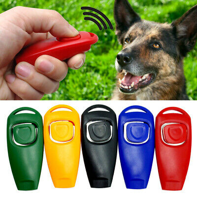 5pcs 2 in 1 Dog Training Clicker & Whistle Pet Obedience Agility Trainer Click
