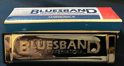 Hohner BluesBand Harmonica Key of C Blues Band Stainless Steel Brand New!