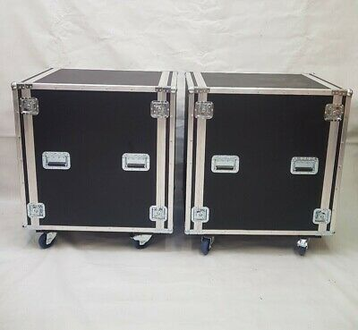Pair of brand new aluminium framed flight cases with wheels COLLECTION ONLY