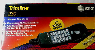 Vintage AT&T TRIMLINE TELEPHONE Model 230 New-In-Box HUNTER GREEN