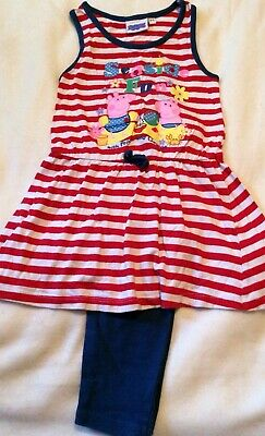 Peppa Pig Top & Leggings Set Super Cute Age 3-4 Years