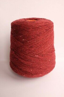 Biagioli Modesto Cashmere Merino Knitting Yarn Brick Red Tweed