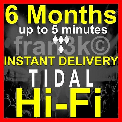 TIDAL Hi-Fi |+| 6 Months GUARANTEED |+| INSTANT 5 min DELIVERY