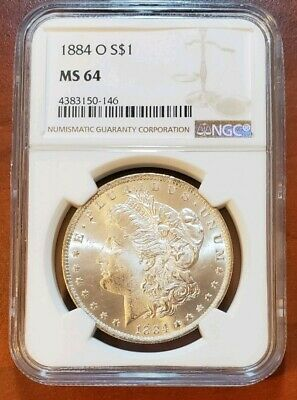 1884 O Ngc Ms64 Frosty White Incredible Wow!! Gorgeous Rare Morgan Silver Dollar