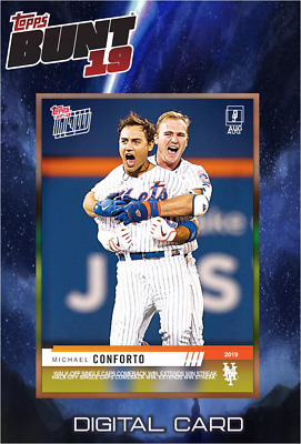 2019 TOPPS NOW VIDEO MICHAEL CONFORTO Topps Bunt Digital Card