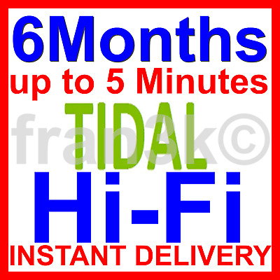 TIDAL Hi-Fi |+| BUY WITH CONFIDENCE |+| 6 Months GUARANTEED |+| INSTANT DELIVERY