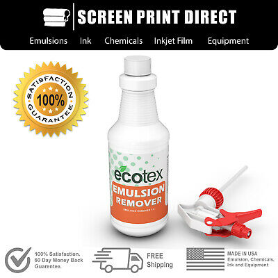 Ecotex® EMULSION REMOVER - Industrial Screen Printing Chemicals - 1 Pint - 16 oz