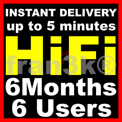 TIDAL HI-FI |+| 6 Users |+| 4 Months GUARANTEED |+| INSTANT 5 min DELIVERY