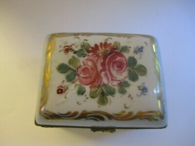 Limoges France Hinged Box~ Antique~Hand Painted