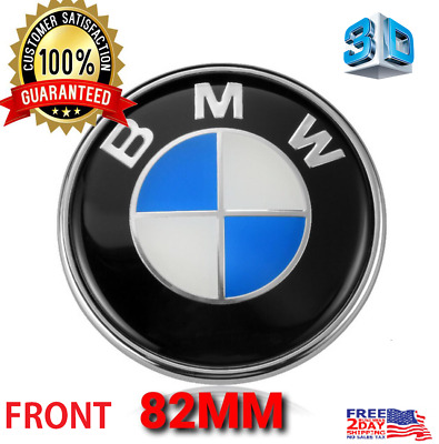NEW 3D Car Emblem Chrome Hood Badge ORIGINA Logo 82mm For BMW FRONT Trunk 3.2inc