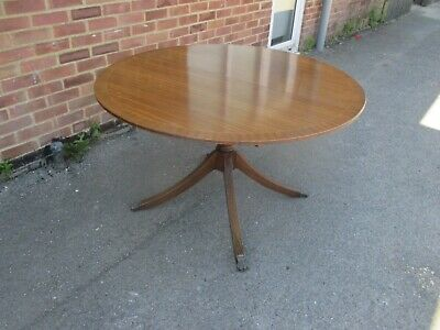 Mahogany Round Extending Kitchen Dining Kitchen Table Single Pedestal Deliver ?
