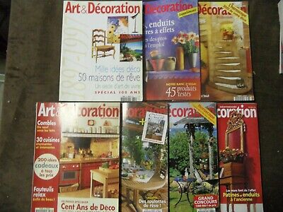 LOT de 7 revues ART ET DECORATION MEDITERRANEE - magazines maison décoration
