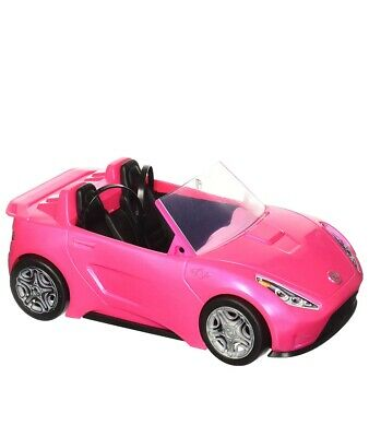 NIB~ Barbie Glam Convertible Pink Car Doll 2 mattel hot Seats