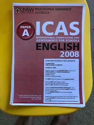 ICAS 2018 Past Papers Year 3 (Paper A) all subjects with Answers - FULL SET
