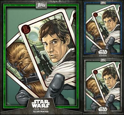 Topps Star Wars Card Trader Illustrated 2019 All in the Cards Green/Blue/Gray