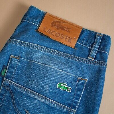 Vintage 90's Y2K Lacoste Blue High Waisted Straight Jeans (Label32/34) W 31 L 31