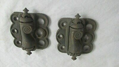 2 Vintage CAST IRON SCREEN DOOR HINGES STRONG SPRINGS FREEPORT ILL