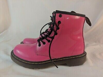 Dr Doc Martens Air Wair Delaney Hot Pink Ankle Boots girls Size 2