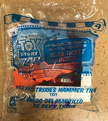 2019 McDonalds TOY STORY 4 Happy Meal Toy REX AND TRIXIE'S HAMMER TIME #9