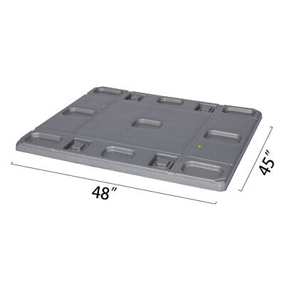 "48"" x 45"" x 1.97""  Plastic Pallet Pack Container Lid"