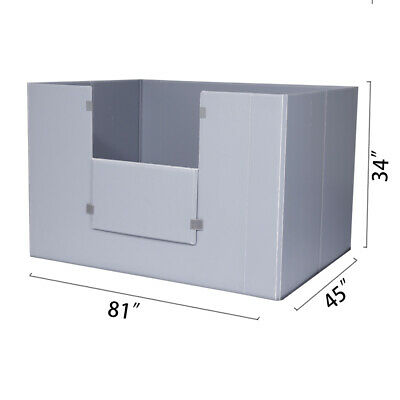 "81"" x 45"" x 34"" Plastic Pallet Pack Container Board"