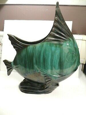 Blue Mountain pottery rare Large Angel Fish! vintage collectors item 17 x 15 in