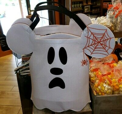 Disney Parks Halloween Mickey Mouse Ghost Trick or Treat Bag New with Tag