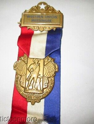 Vintage 1944 Chicago Democratic National Convention Western Union Messenger Pin