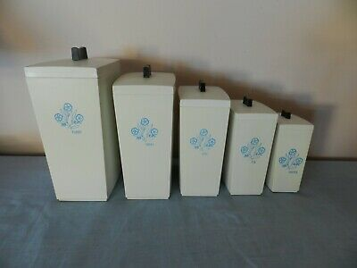 Vintage CAPRI Kitchen Canisters set on 5 made in Australia