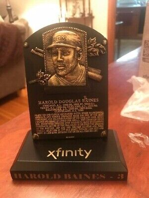 Harold Baines Replica Hall of Fame Plaque - White Sox Giveaway - August 11, 2019